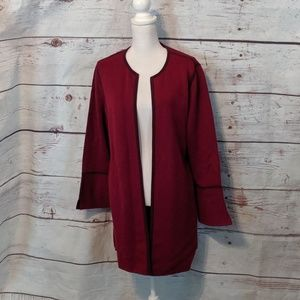 Chico's Burgundy Duster Size XL